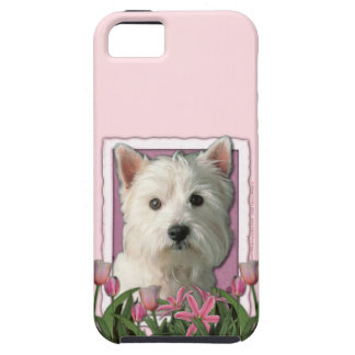 Mutter-Tag - rosa Tulpen - Westie iPhone 5 Case