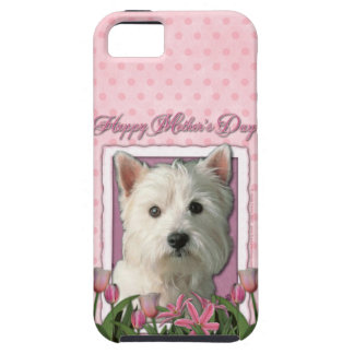 Mutter-Tag - rosa Tulpen - Westie iPhone 5 Hüllen