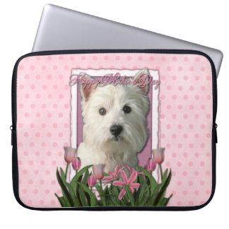 Mutter-Tag - rosa Tulpen - Westie Laptop Computer Schutzhülle