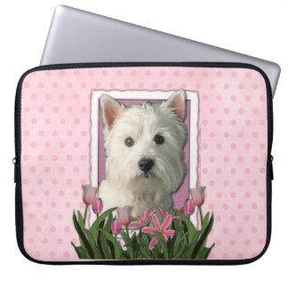 Mutter-Tag - rosa Tulpen - Westie Computer Schutzhüllen