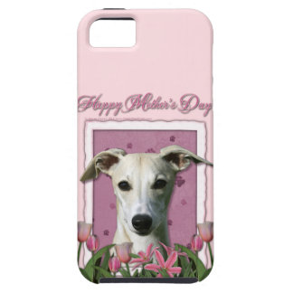 Mutter-Tag - rosa Tulpen - Whippet iPhone 5 Schutzhülle