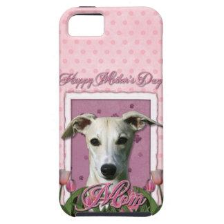 Mutter-Tag - rosa Tulpen - Whippet iPhone 5 Schutzhüllen