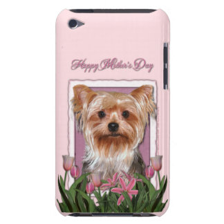 Mutter-Tag - rosa Tulpen - Yorkshire Terrier iPod Case-Mate Hülle
