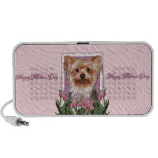 Mutter-Tag - rosa Tulpen - Yorkshire Terrier Lautsprecher