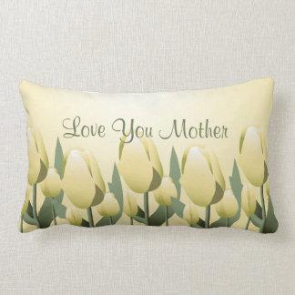Mutter-Tagesfrühlings-Tulpe-Liebe-Mamma-GelbLumbar Zierkissen
