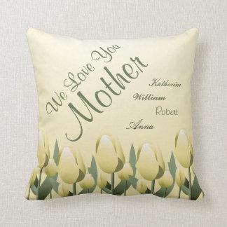 Mutter-Tagesfrühlings-Tulpe-Liebe-Mamma Kissen