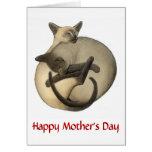 Mutter-Tagessiamesische Katzen-Karte