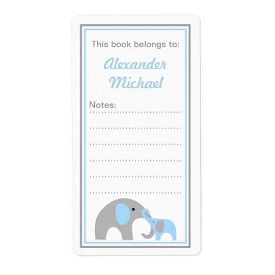 Mutter-und Baby-Elefant-Buchzeichenbuchaufkleber Versandetikett