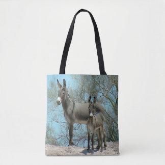Mutter-und Baby-Wüsteburros-Tasche Tasche
