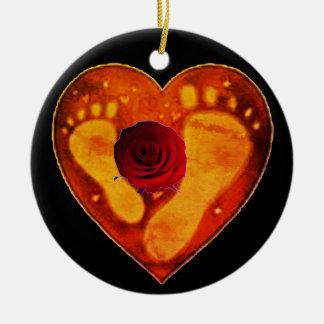 Mutter-und des Babys Abdrücke Keramik Ornament
