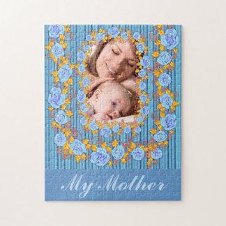 Mutter und ich Erinnerungens-Fotopuzzlespiel Foto Puzzle