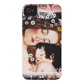 Mutter und Kind durch Collage Gustav Klimt iPhone 4 Case-Mate Hüllen