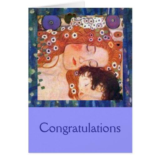Mutter und Kind durch Klimt Karten