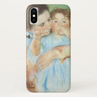 Mutter und Kind durch Mary Cassatt, Vintage feine iPhone X Hülle