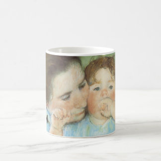 Mutter und Kind durch Mary Cassatt, Vintage feine Kaffeetasse