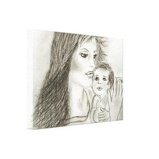 Mutter und Kind Galerie Falt Leinwand