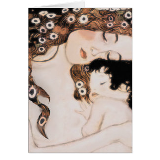 Mutter und Kind Gustav Klimt Karte