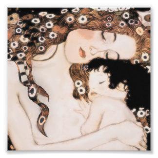 Mutter und Kind Gustav Klimt Kunst Fotos