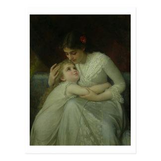 Mutter und Kind (Öl auf Leinwand) Postkarte