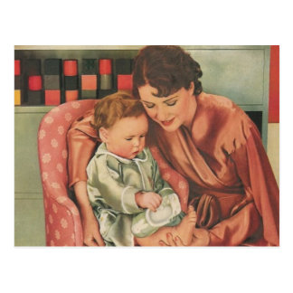 Mutter und Kind Postkarte