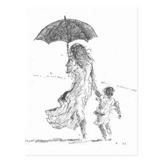Mutter und Kind Sri Lanka Postkarte