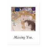 Mutter und Kind, vermisst Sie Postkarte