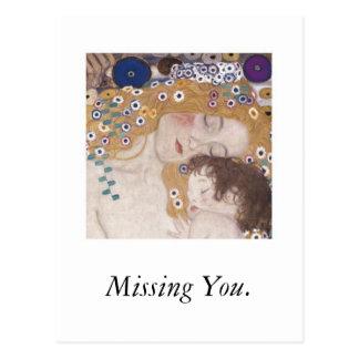 Mutter und Kind, vermisst Sie Postkarten