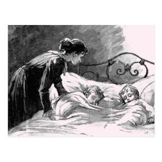 Mutter und Kinderschlafenpostkarte Postkarte