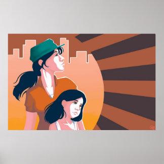 Mütter und Tochter-Plakat Poster