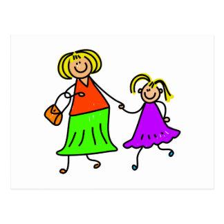 Mutter und Tochter Postkarte