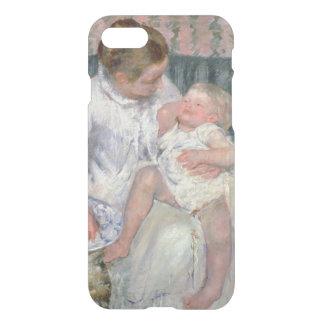 Mutter ungefähr, zum ihres schläfrigen Kindes, iPhone 7 Hülle
