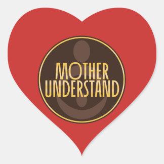Mutter verstehen Herz-Aufkleber