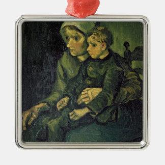 Mutter Vincent van Goghs | und Kind, 1885 Quadratisches Silberfarbenes Ornament