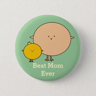 Mutter-Vogel mit einem KindPinback Knopf Runder Button 5,1 Cm