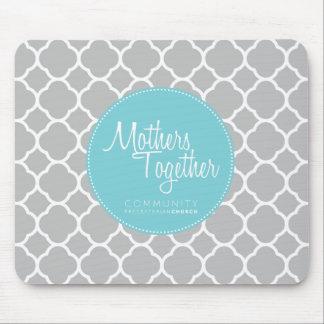 Mutter-zusammen blaue Logo-Mausunterlage Mousepads