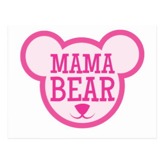 Mutterbär im Teddybärkopf Postkarte