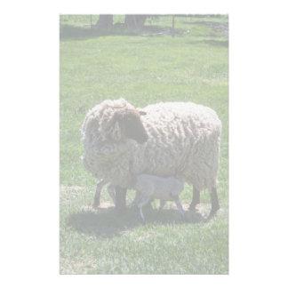 Mutterschaf mit Lamm Briefpapier