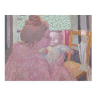Mutterschaft am Fenster, 1901 Postkarte
