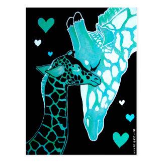 Mutterschaft: Giraffen Postkarte