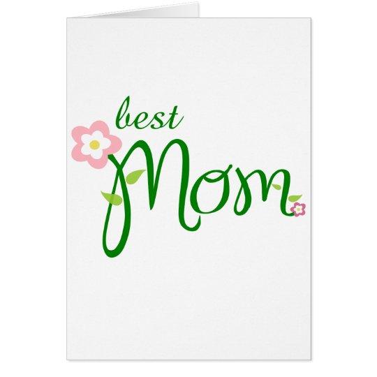 Muttertag - best mom karte
