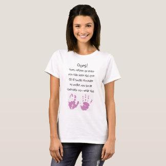 Muttertagest-shirt Oops! Trauriger Mammy T-Shirt