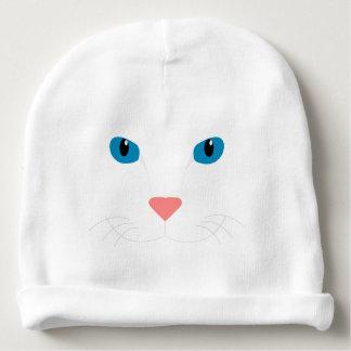 Mütze für trinkt die Weiße Katze Babymütze