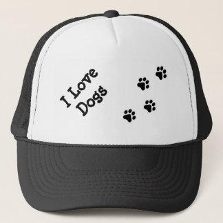 "Mütze unisex ""I love dogs """