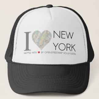 Mütze von I love New York mit Landkarte von