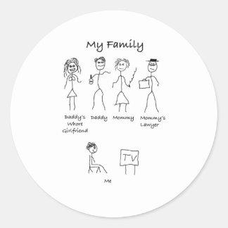 My-Family-4 Runder Aufkleber
