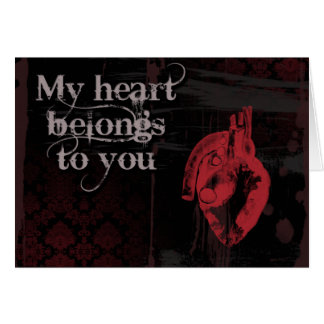 My heart belongs to you card