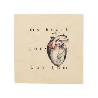 my heart holzleinwand