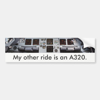 """My other ride is an A320."" Autoaufkleber"