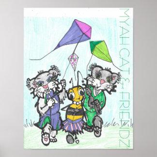 MYAH CAT- u. FRIENDZ-Plakat Poster