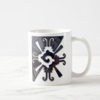 Myan Hunab Ku - schwarzes Chrom Kaffeetasse
